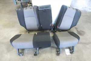 2015 Toyota 4 Runner 2nd Row Rear Seat Set Black Gray Bench Oem