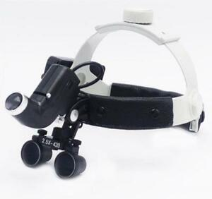 Dental 5w Surgical Medical Headband Loupes Magnifier 2 5x With Led Light Dy 105