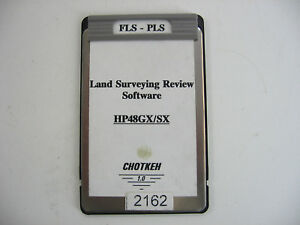 Chotkeh Used Fls pls Land Surveying Review Software For The Hp48gx sx