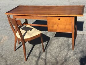 Mid Century Modern Walnut Drexel Declaration Desk And Chair
