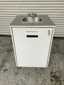 Portable Hand Wash Sink Mobile Station Cart Mill Works 7895 Commercial Nsf Pump