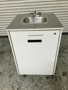 Portable Hand Wash Sink Mobile Station Cart W New Water Heater Mill Works 7905
