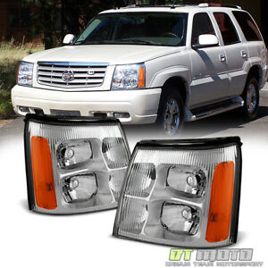 2003 2006 Cadillac Escalade Headlights Headlamps Replacement For 03 06 Hid Model