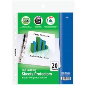 Bazic 3102 36 Top Loading Sheet Protectors Pack Of 36