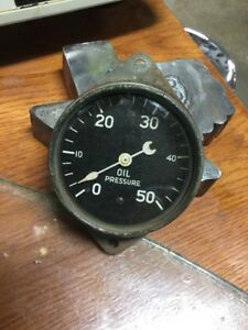 Stewart Warner Old 50 Psi Oil Gauge Hot Rat Rod Vintage Dash Instrument Scta
