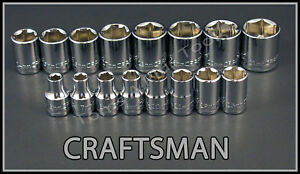 Craftsman Hand Tools 16pc Lot 3 8 Dr 6pt Metric Mm Ratchet Wrench Socket Set