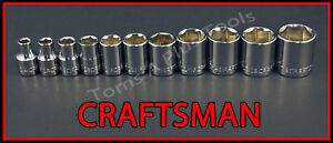 Craftsman Hand Tools 11pc Lot 3 8 Dr Sae 6pt Ratchet Wrench Socket Set
