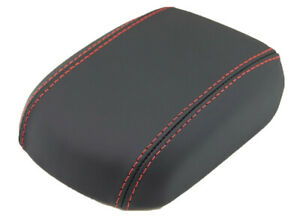 Fit 11 15 Chevy Cruze Vinyl Leather W red Stitch Centr Console Lid Armrest Cover