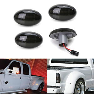 Smoked Lens Front rear 48 led Wheel Fender Side Marker Lamps For 99 10 F350 F450