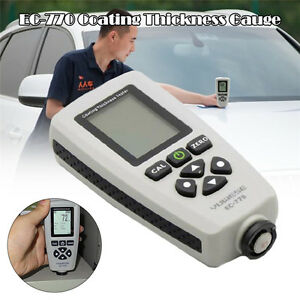 Probe Tester Tool Thickness Digital Coating Gauge Usb Interface Standard Menu