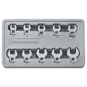 Gearwrench Metric Crowfoot Flare Nut Socket Wrench Set 10 Piece Wrenches Tool