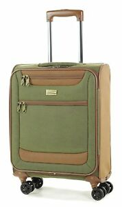 Member Boston Small Size Light Weight Luggage With Trolley Olive Green Colour