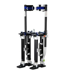 Painting Tool Adjustable Heel Plates Skywalker Drywall Stilts Aluminum Black