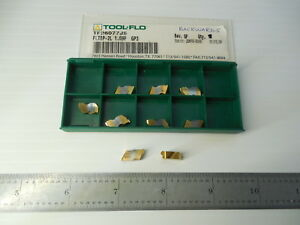9 Pcs New Tool Flo Tf26077j5 Fltbp 2l Gp3 Top Notch Carbide Inserts Toolmaker