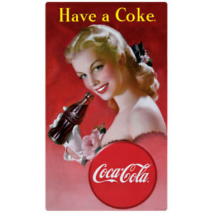 6aed4a6bbba Coca-Cola Have a Coke Red Dress Lady Wall Decal Vintage Style