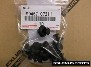 Lexus Is250 Is350 Isf 2006 2013 Oem Genuine Plastic Engine Cover Clips X10