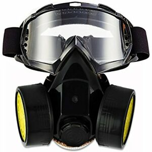 Dual Safety Masks Anti dust Spray Paint Industrial Chemical Gas Respirator Set