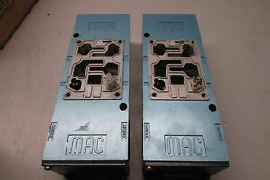Mac 6311d Pneumatic Valve Base Lot Of 2