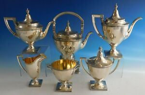 Etruscan By Gorham Sterling Silver Tea Set 6pc 2186