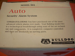 Bulldog Security Model 901 Auto Security Alarm System new In Package