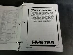 Hyster B80zac Forklift Service Manual