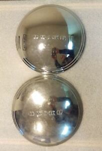 Vintage C 1950 S Buick Dog Dish Hubcap Set Of 2