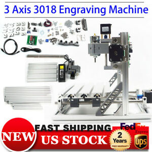 3 Axis 3018 Mini Diy Cnc Router Engraver Engraving Carving Machine Grbl Control