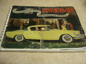 Studebaker 1954 Dealer Salesman Inside Facts Data Book Sedan Coupe Hardtop