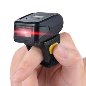 Handheld Wireless Mini Bluetooth Ring 1d Barcode Scanner Reader Ios Android R0r5