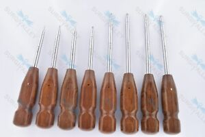 Bone Screwdriver Hex Head Veterinary Orthopedic Instruments Set Of 8 Pieces