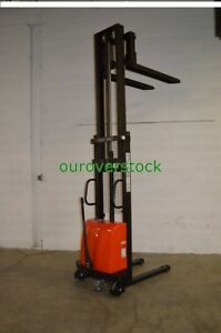 Fork Over Manual Push Electric Lift Stacker 2 200 Lb 118 Lift Height