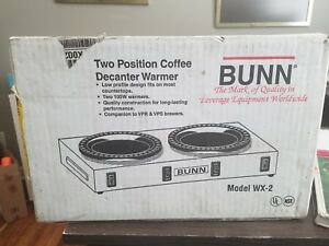 Bunn Dual Commercial Coffee Pot Warmer New