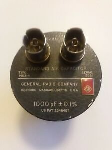 General Radio 1403 a Air Capacitor Standard 1000pf 700v 0 1