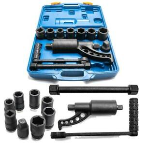 Heavy Duty Torque Multiplier Set Wrench Lug Nut Lugnut Remover W 8 Sockets New