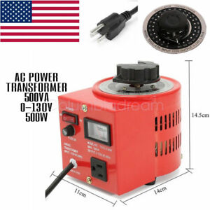 500w Ac Power Transformer Digital Variable Voltage Regulator Us Plug 5 Amps Sale