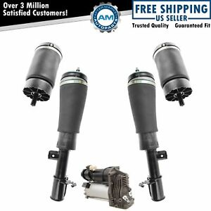 5 Piece Air Suspension Kit Front Shock Assemblies W Rear Springs For Land Rover