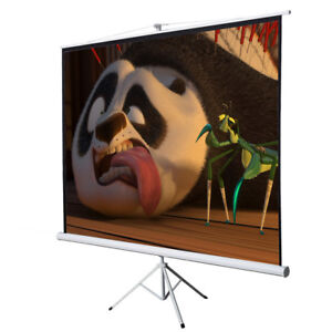 Office Home 100 Tripod Portable Projection Screen Square Projector Stand 70x70