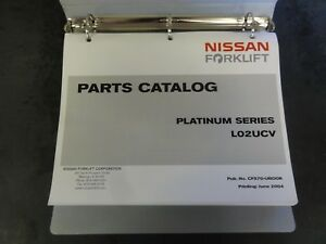Nissan Forklift L02ucv Platinum Parts Catalog Cf570 ubook 2004