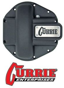 Currie Heavy Duty Iron Differential Cover Text Black Fits Jeep Dana 44 Axle