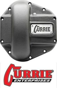 Currie Ent Heavy Duty Iron Front Differential Cover Black Fits Jeep Dana 60