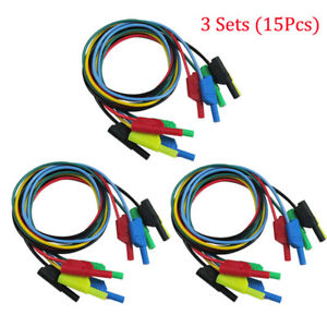 1m 4mm 20a Banana To Banana Plug Soft Silicone Test Cable Lead For Multimeter