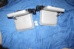 89 97 Ford Ranger X Cab Rear Jump Bucket Seats W Seatbelts Light Gray Pair Nice