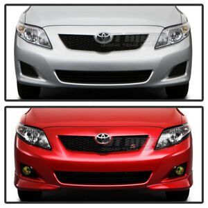 For 2009 2010 Toyota Corolla Yellow Fog Lights Bumper Lamps W Switch Left Right
