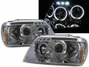 Grand Cherokee Wj Mk2 99 04 5d Angel Eye Projector Headlight Chrome For Jeep Rhd