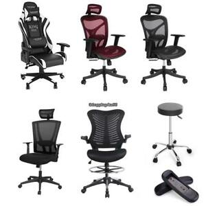 Ergonomic High back Adjustable Drafting Reception Office Stool chair 6 Types