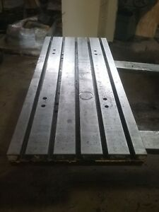48 X 20 X 2 Steel Weld T slot Table Cast Iron Layout 5 Slot Jig