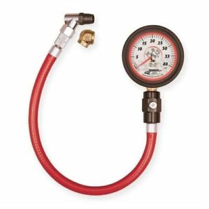 Longacre 52 52013 Deluxe 2 Face Gid Analog Tire Gauge 0 40 Psi By 1 2 Lb