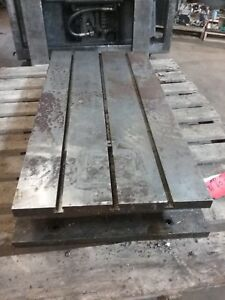 37 X 18 X 7 Steel Weld T slot Table Cast Iron Layout 3 Slot Jig