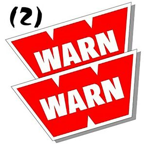 2 Warn Winch Stickers Offroad Off Road Polaris Rzr Jeep