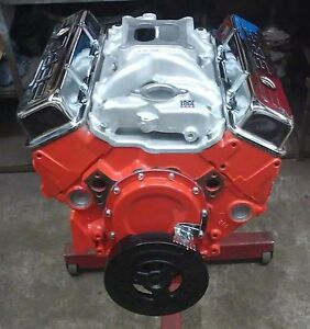 400 Hp 383 Chevy Stroker Engine Motor New Cast Iron High Flow Head free Ship